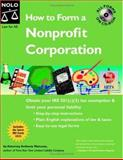 How to Form a Nonprofit Corporation, Anthony Mancuso, 141330348X