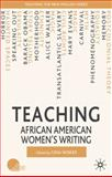 Teaching African American Women's Writing, Wisker, Gina, 0230003486