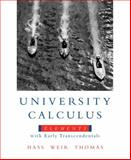 University Calculus : Elements with Early Transcendentals, Hass, Joel and Weir, Maurice D., 0321533488