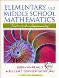 Elementary and Middle School Mathematics 9780205573523