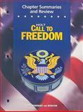 Call to Freedom, Holt, Rinehart and Winston Staff, 0030383544