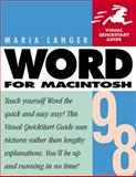 Word 98 for Macintosh, Langer, Maria, 0201353547