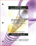 Student Solutions Manual for Physics for Scientists and Engineers : A Strategic Approach Vol 2 (Chs 20-43), Knight, Randall D. and Nutter, Scott, 0321513568