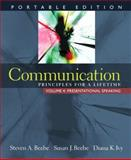 Communication Vol. 4 : Principles for a Lifetime - Presentational Speaking, Beebe, Steven A. and Beebe, Susan J., 0205593577