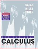 Calculus : One Variable, Salas, Saturnino L. and Hille, Einar, 0471383589