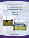 Final Environmental Assessment for Novolyte Technologies, Inc. Electric Drive Vehicle Battery and Component Manufacturing Initiative Project, Zachary, La (DOE/EA-1719), U. S. Department Energy and National Energy Laboratory, 1482603586