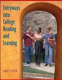 Entryways into College Reading and Learning, Elder, Janet, 0073123587