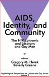 AIDS, Identity, and Community Vol. 2 : The HIV Epidemic and Lesbians and Gay Men, , 0803953607
