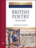 The Facts on File Companion to British Poetry Before 1600, Sauer, Michelle, 0816063605