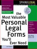 The Most Valuable Personal Legal Forms You'll Ever Need, Mark Warda and James C. Ray, 1572483601