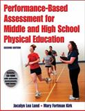 Performance-Based Assessment for Middle and High School Physical Education, Jacalyn Lea Lund and Mary Fortman Kirk, 073608360X