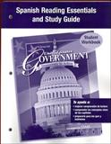 United States Government : Democracy in Action: Spanish Reading Essentials and Study Guide, Glencoe McGraw-Hill, 0078783623