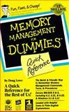 QR/Memory Management for Dummies, Doug Lowe, 1568843623