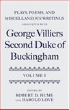 Plays, Poems, and Miscellaneous Writings Associated with George Villiers, Second Duke of Buckingham, , 0199203636