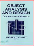 Object Analysis and Design : Description of Methods, , 0471623660
