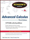 Advanced Calculus, Wrede, Robert and Spiegel, Murray, 0071623663