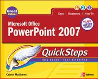 Microsoft Office PowerPoint 2007, Matthews, Carole Boggs, 0072263709