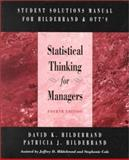Student Solutions Manual for Statistical Thinking for Managers, Hildebrand, David K. and Ott, R. Lyman, 053435372X