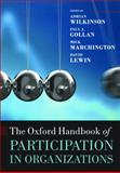 The Oxford Handbook of Participation in Organizations, David Lewin, 0199693730