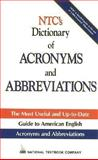 NTC's Dictionary of Acronyms and Abbreviations, Kleinedler, Steven Racek, 0844253766