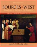 Sources of the West : Readings in Western Civilization - From the Beginning to 1715, Kishlansky, Mark A. and Stater, Victor Louis, 0205053769