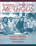 Secondary and Middle School Methods, Ornstein, Allan C. and Waxman, 0205263763