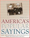 America's Popular Sayings, Gregory Titelman, 0517223775