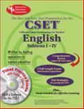 CSET - English Subtests, Rosen, David M. and Research & Education Association Editors, 0738603775