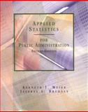 Applied Statistics for Public Administration, Meier, Kenneth J. and Brudney, Jeffrey L., 0030193788