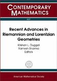 Recent Advances in Riemannian and Lorentzian Geometries, , 0821833790