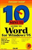 Ten Minute Guide to Word for Windows 95, Aitken, Peter, 0789703793