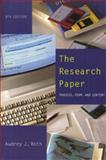 Research Paper : Process, Form, Content, Roth, Audrey J., 0534523803