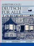 Deutsch Für Alle : Beginning College German, Haas, Werner and Mathieu, Gustave Bording, 0471573809