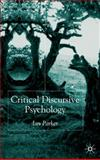 Critical Discursive Psychology, Parker, Ian, 033397381X