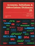 Acronyms, Initialisms and Abbreviations Dictionary, Bonk, Mary Rose and Dear, Pamela, 078763381X