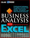 Business Analysis with Excel, Carlberg, Conrad, 0789703823