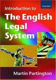 An Introduction to the English Legal System, Partington, Martin, 0198763832