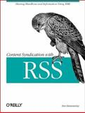 Content Syndication with RSS, Hammersley, Ben, 0596003838