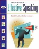 The Challenge of Effective Speaking, Verderber, Rudolph F. and Verderber, Kathleen S., 0534563856