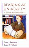 Reading at University, Fairbairn, Gavin J. and Fairbairn, Susan, 033520385X