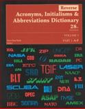 Reverse Acronyms, Initialisms and Abbreviations Dictionary, Bonk, Mary Rose, 0787633860