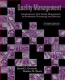 Quality Management : Introduction to Total Quality Management for Production, Processing, and Services, Goetsch, David L. and Davis, Stanley, 0130933872