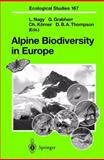 Alpine Biodiversity in Europe, , 3642623875