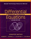 Differential Equations, Matlab Technology Resource Manual : A Modeling Perspective, Borrelli, Robert L. and Coleman, Courtney S., 0471483877