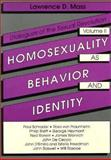 Homosexuality As Behavior and Identity, Lawrence Mass, 0918393906