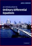An Introduction to Ordinary Differential Equations, Robinson, James C., 0521533910