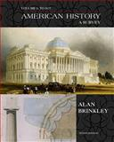 American History Vol. 1 : A Survey, Brinkley, Alan, 007303391X