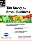 Tax Savvy for Small Business, Frederick W. Daily, 1413303919