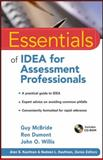 Essentials of Idea for Assessment Professionals, McBride, Guy and Dumont, Ron, 0470873922