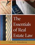 The Essentials of Real Estate Law for Paralegals, Slossberg, Lynn T., 1418013927